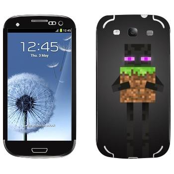 Виниловая наклейка «Enderman - Minecraft» на телефон Samsung Galaxy S3