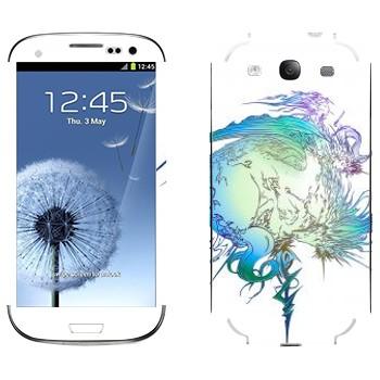 Виниловая наклейка «Final Fantasy 13 абстракция» на телефон Samsung Galaxy S3
