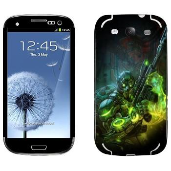 Виниловая наклейка «Ghost - Starcraft 2» на телефон Samsung Galaxy S3