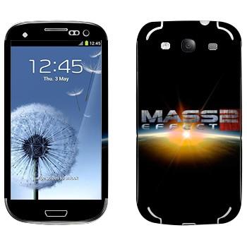 Виниловая наклейка «Mass effect логотип» на телефон Samsung Galaxy S3