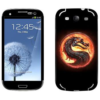 Виниловая наклейка «Mortal Kombat эмблема» на телефон Samsung Galaxy S3