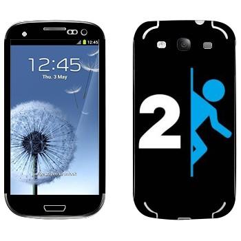 Виниловая наклейка «Portal 2 логотип» на телефон Samsung Galaxy S3