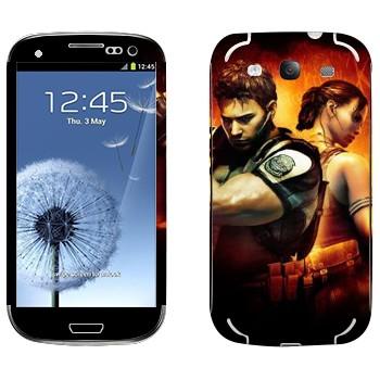 Виниловая наклейка «Resident Evil игра» на телефон Samsung Galaxy S3