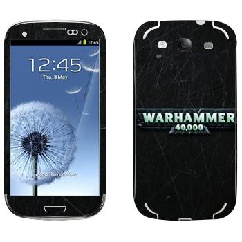 Виниловая наклейка «Warhammer 40000» на телефон Samsung Galaxy S3
