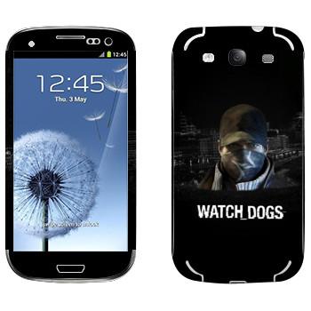 Виниловая наклейка «Watch Dogs - Эйден Пирс» на телефон Samsung Galaxy S3