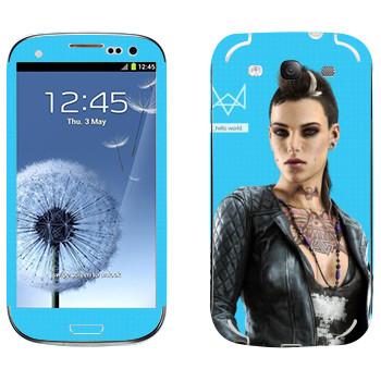 Виниловая наклейка «Watch Dogs - Клара Лилл» на телефон Samsung Galaxy S3