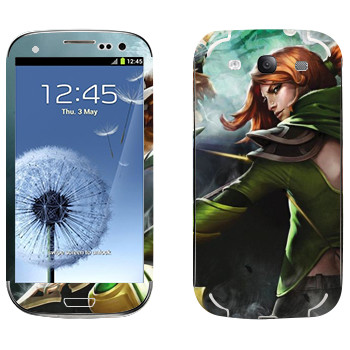 Виниловая наклейка «Windranger - Dota 2» на телефон Samsung Galaxy S3