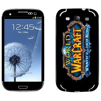 Виниловая наклейка «World of Warcraft : Wrath of the Lich King вертикальный» на телефон Samsung Galaxy S3
