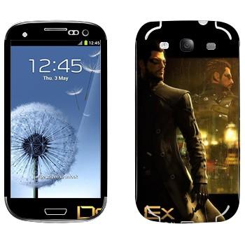 Виниловая наклейка «Адам Дженсен - Deus Ex 3» на телефон Samsung Galaxy S3