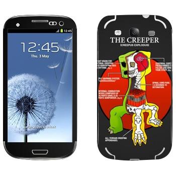 Виниловая наклейка «Анатомия крипера - Minecraft» на телефон Samsung Galaxy S3