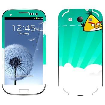 Виниловая наклейка «Чак - Angry Birds» на телефон Samsung Galaxy S3