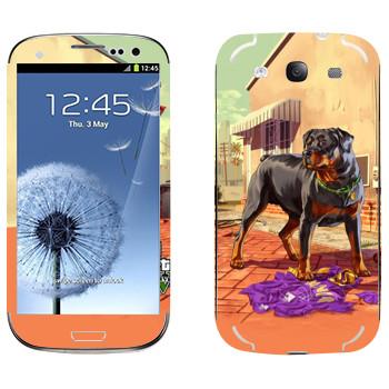 Виниловая наклейка «Чоп - GTA5» на телефон Samsung Galaxy S3