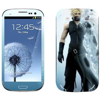 Виниловая наклейка «Клауд Страйф - Final Fantasy» на телефон Samsung Galaxy S3