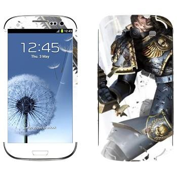 Виниловая наклейка «Космический пехотинец - Warhammer 40k» на телефон Samsung Galaxy S3