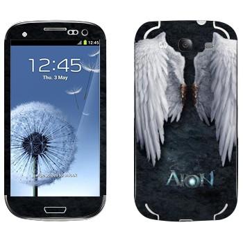 Виниловая наклейка «Крылья ангела - Aion» на телефон Samsung Galaxy S3