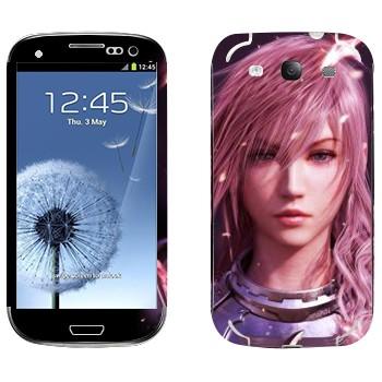 Виниловая наклейка «Молния - Final Fantasy» на телефон Samsung Galaxy S3