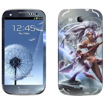 Виниловая наклейка «Нидали - Дикая охотница» на телефон Samsung Galaxy S3
