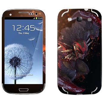 Виниловая наклейка «Охотник за кровью - Dota 2» на телефон Samsung Galaxy S3