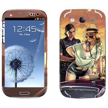 Виниловая наклейка «Полиция GTA» на телефон Samsung Galaxy S3
