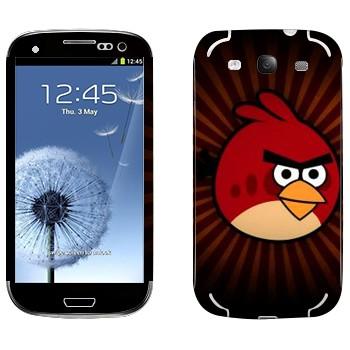 Виниловая наклейка «Рэд - Angry Birds» на телефон Samsung Galaxy S3