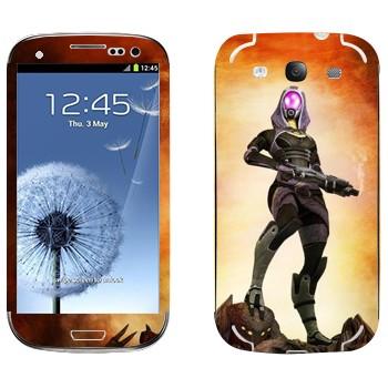 Виниловая наклейка «Тали'Зора - Mass effect» на телефон Samsung Galaxy S3