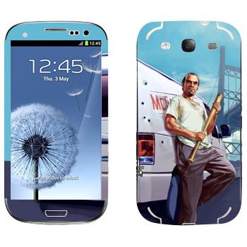 Виниловая наклейка «Тревор - GTA5» на телефон Samsung Galaxy S3