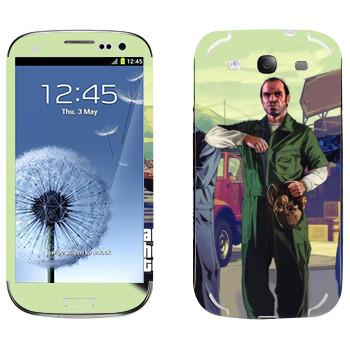 Виниловая наклейка «Тревор с маской - GTA5» на телефон Samsung Galaxy S3