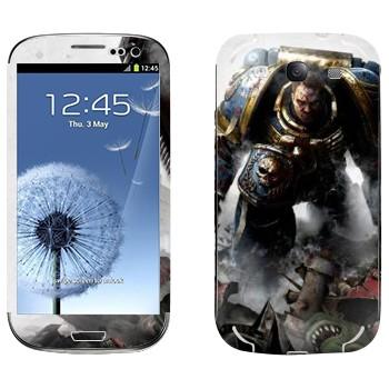Виниловая наклейка «Воин - Warhammer 40k» на телефон Samsung Galaxy S3