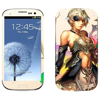 Виниловая наклейка «Воительница - Lineage II» на телефон Samsung Galaxy S3