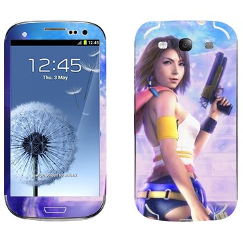 Виниловая наклейка «Юна - Final Fantasy» на телефон Samsung Galaxy S3