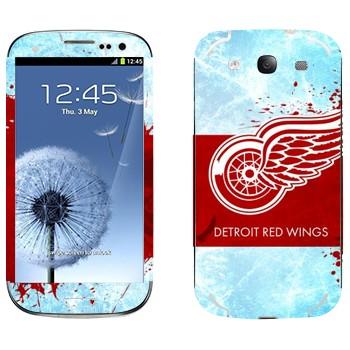Виниловая наклейка «Detroit red wings» на телефон Samsung Galaxy S3