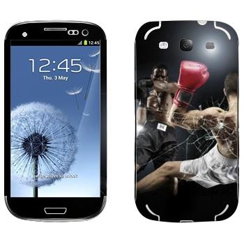 Виниловая наклейка «Бокс нокаут» на телефон Samsung Galaxy S3