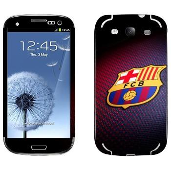 Виниловая наклейка «Эмблема ФК Барселона» на телефон Samsung Galaxy S3