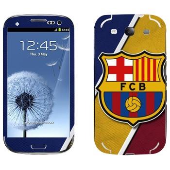 Виниловая наклейка «ФК Барселона логотип» на телефон Samsung Galaxy S3