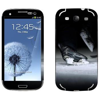 Виниловая наклейка «Хоккейные коньки» на телефон Samsung Galaxy S3
