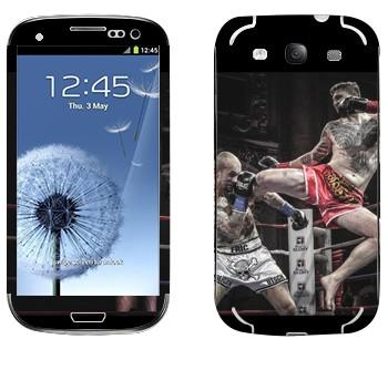 Виниловая наклейка «Муай Тай» на телефон Samsung Galaxy S3
