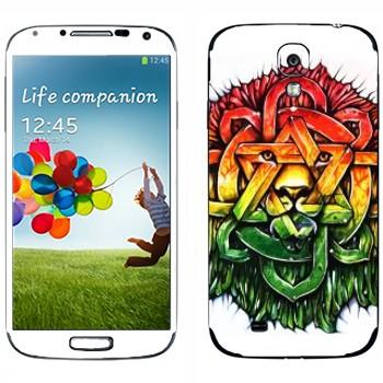 Виниловая наклейка «Абстрактный лев» на телефон Samsung Galaxy S4