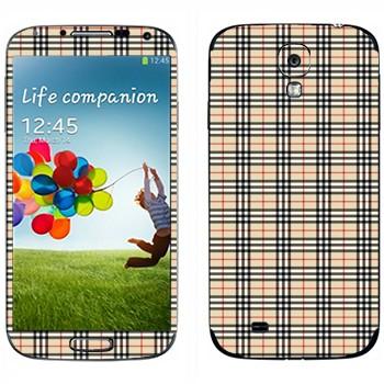 Виниловая наклейка «Барберри клетка» на телефон Samsung Galaxy S4