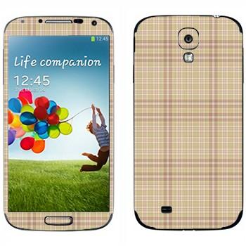 Виниловая наклейка «Бежевая клетка» на телефон Samsung Galaxy S4