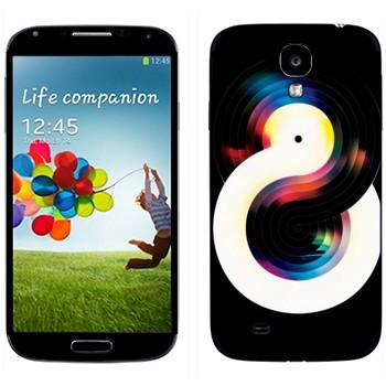Виниловая наклейка «Черная и белая виниловые пластинки» на телефон Samsung Galaxy S4