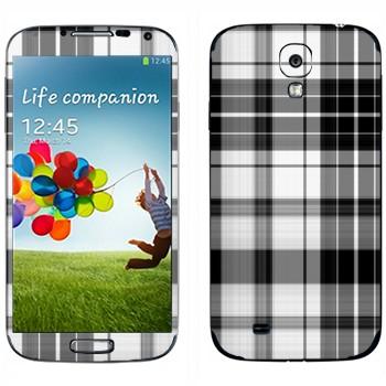 Виниловая наклейка «Черно-белая клеточка» на телефон Samsung Galaxy S4