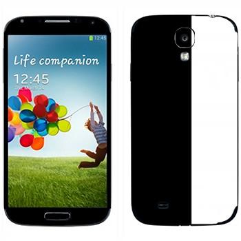 Виниловая наклейка «Черно-белые полосы» на телефон Samsung Galaxy S4