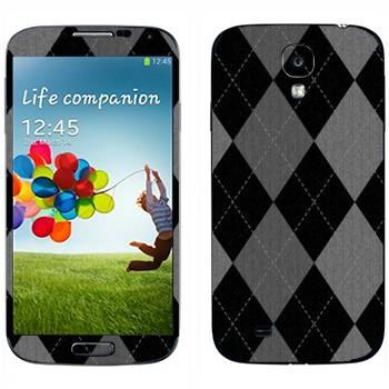 Виниловая наклейка «Черно-серые ромбы» на телефон Samsung Galaxy S4