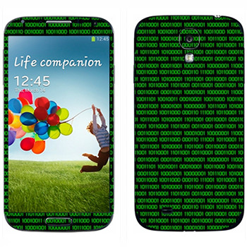 Виниловая наклейка «Двоичный код» на телефон Samsung Galaxy S4