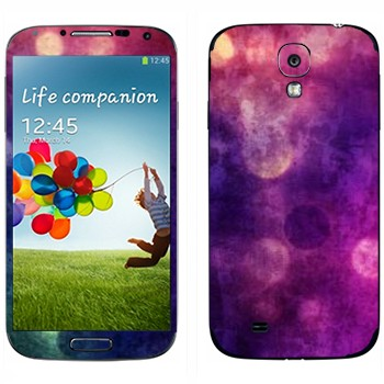 Виниловая наклейка «Фиолетовая Gryngy текстура» на телефон Samsung Galaxy S4