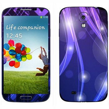 Виниловая наклейка «Фиолетово-синие цветные переливы» на телефон Samsung Galaxy S4
