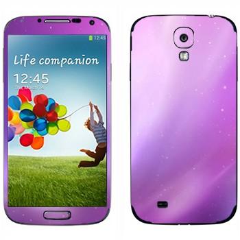 Виниловая наклейка «Фиолетовое сияние» на телефон Samsung Galaxy S4