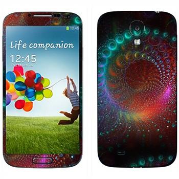 Виниловая наклейка «Фрактал космический» на телефон Samsung Galaxy S4
