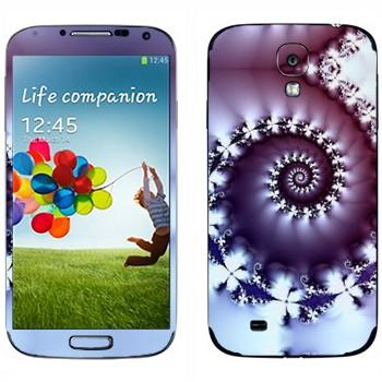 Виниловая наклейка «Фрактал-улитка» на телефон Samsung Galaxy S4