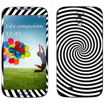 Виниловая наклейка «Гипнотизирующая спираль» на телефон Samsung Galaxy S4
